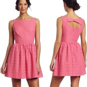 Lilly Pulitzer Aleesa Lace Dress Hotty Pink 00